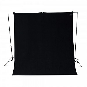 Black Backdrop with Stand